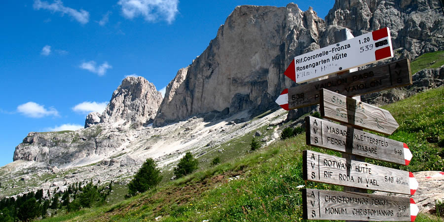 Walking tours in the Dolomites - since 2009 part of the UNESCO World Natural Heritage